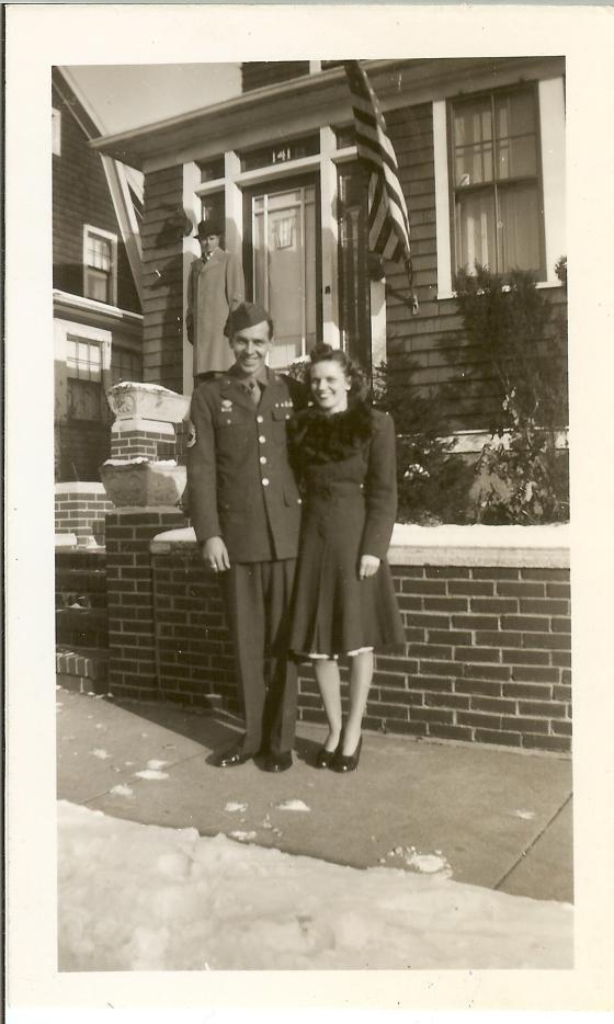 Grandma and Pop in December 1945
