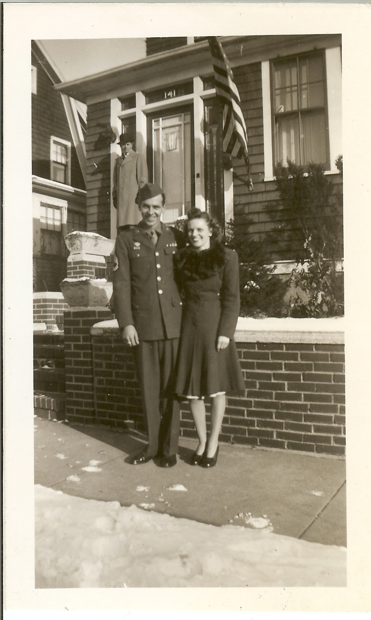 Grandma and Pop in December 1945