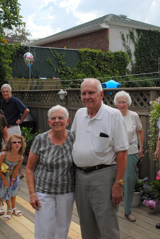 At Pop's 90th birthday in 2009