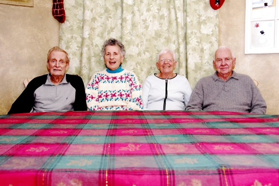 GGPa, GGMa, Grandma, and Pop (left to right)