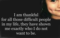 thankful for the difficult