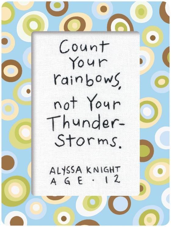 rainbow not thunderstorm