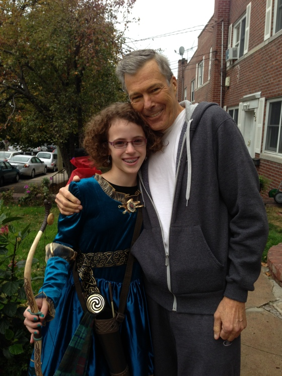 dad and meg halloween 2013