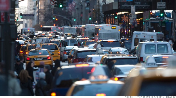 New York traffic during rush hour