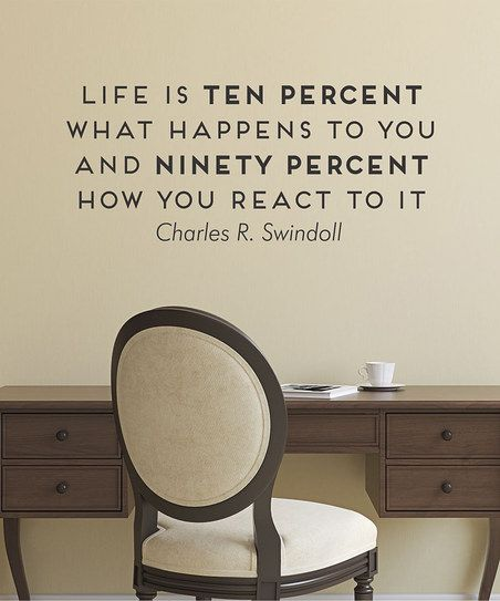 life what happens and how you react