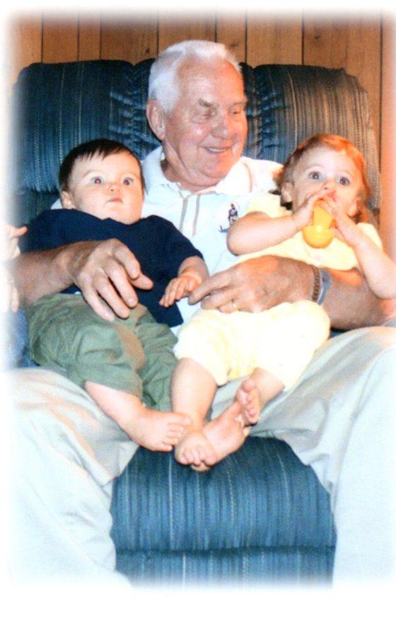 The first great grandchildren - Luke and Meghan