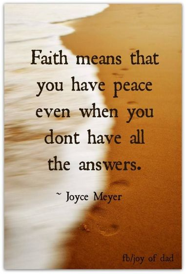 faith peace
