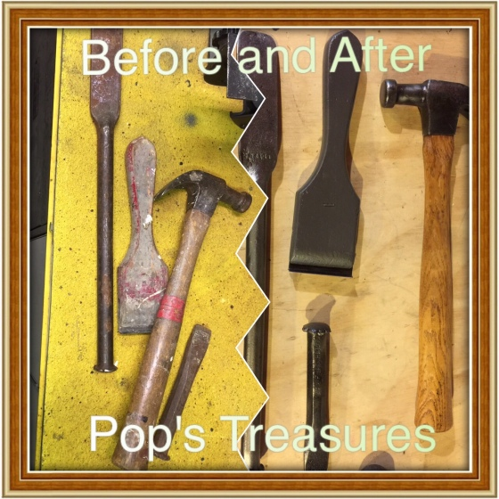 Felix took some of Pop's tools from his car, and brought them back to their glory.  Those two had their own special bond.